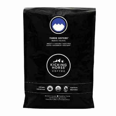 Kicking Horse Coffee Three Sisters Medium Roast Whole Bean 2.2 Pound - Certified Organic Fairtrade Kosher Coffee