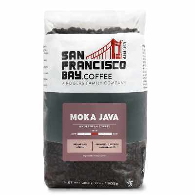 SF Bay Coffee Moka Java Whole Bean 2LB (32 Ounce) Medium-Light Roast