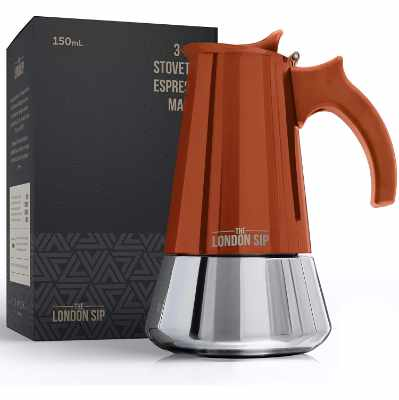 The London Sip Stainless Steel Induction Stovetop Espresso Maker