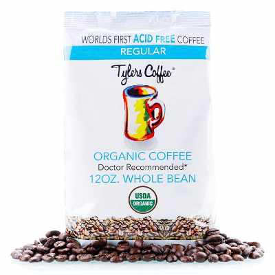 Tyler's No Acid Organic Coffee Beans - 100% Arabica Full Flavor - Neutral pH