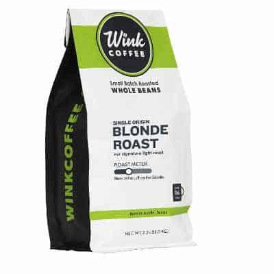 Wink Blonde Roast Whole Bean Coffee Large 2.2 Pound Bag