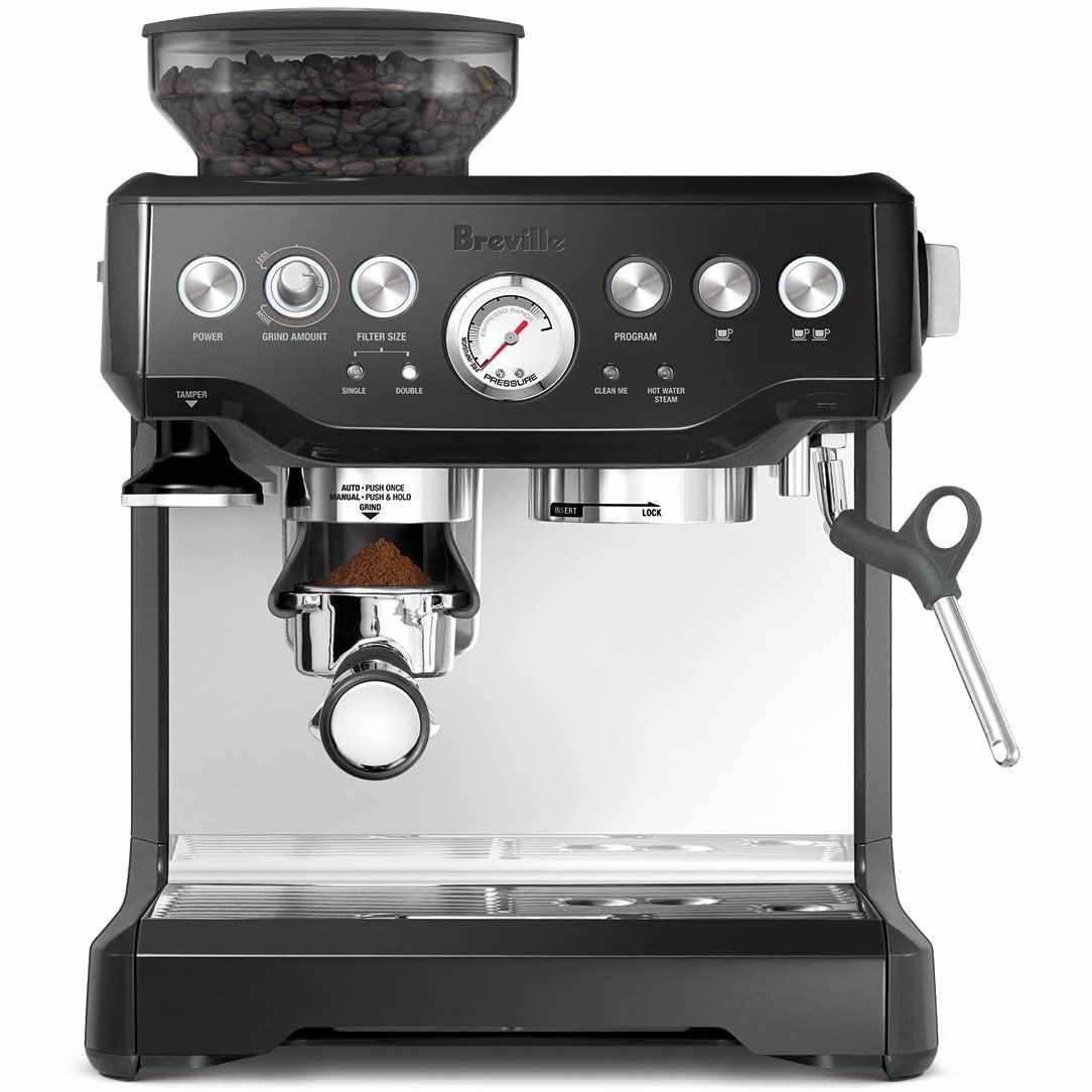 Breville BES870BSXL The Barista Express Coffee Machine Black Sesame