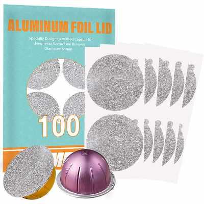 CAPMESSO Aluminum Foils Lids to Reuse Vertuoline Capsules