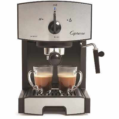 Capresso 117.05 Stainless Steel Pump Espresso and Cappuccino Machine EC50 Black Stainless