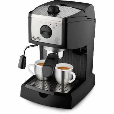 DeLonghi EC155 15 Bar Espresso and Cappuccino Machine Black