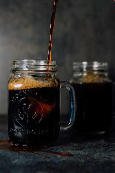 Pouring a lovely cup of cold brew