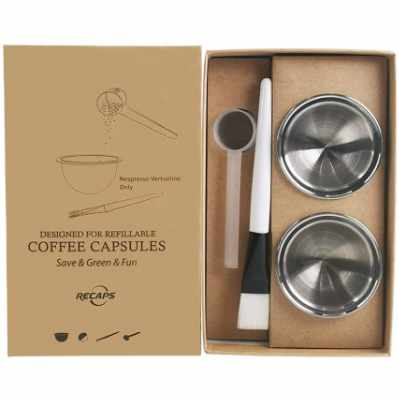 RECAPS Stainless Steel Refillable Filter Reusable Pods