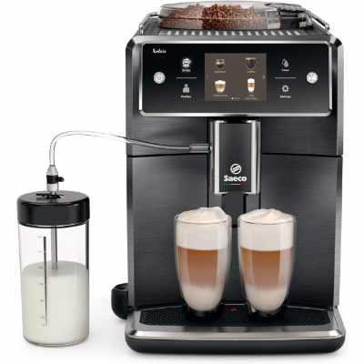 Saeco Xelsis Super Automatic Espresso Machine Titanium Metal Front SM768404