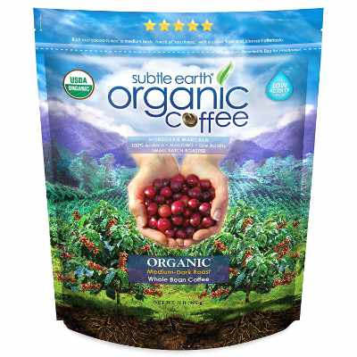 2LB Subtle Earth Organic Coffee - Medium-Dark Roast