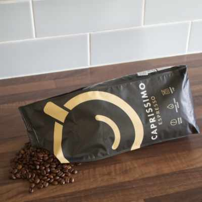 A bag of Caprissimo Blend Coffee Beans