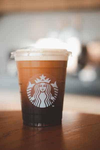 A cup of Starbucks Nitro Cold Brew Coffee