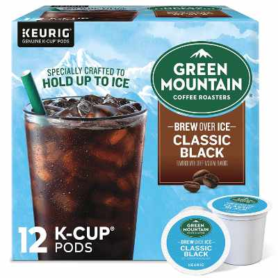 Green Mountain Coffee Roasters Brew Over Ice Classic Black Single Serve Keurig K-Cup Pods