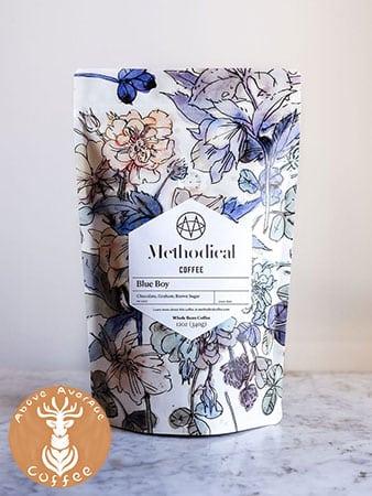 Methodical blue boy coffee