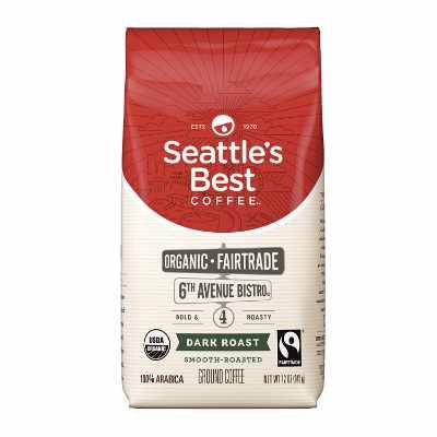 Seattle's Best Coffee 6th Avenue Bistro Fair Trade Organic Dark Roast