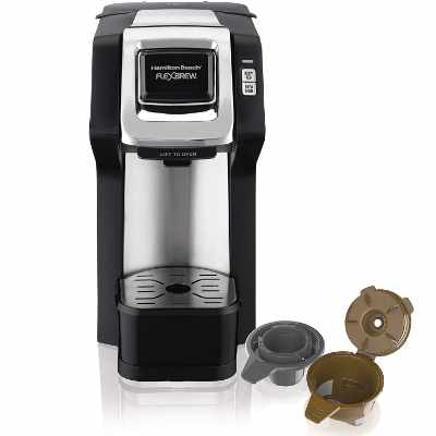 Hamilton Beach 49979 FlexBrew Single-Serve Coffee Maker Compatible with Pod Packs and Grounds