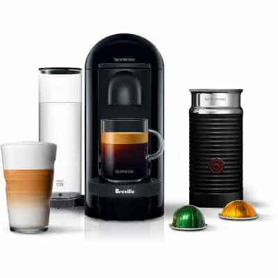 Nespresso BNV450IBL VertuoPlus Espresso Machine with Aeroccino by Breville