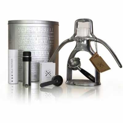 Rok Manual Espresso Maker Silver